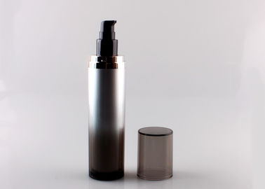 China Transparent 100ml Acrylic Lotion Bottles Thick Plastic Gradient Black Color supplier