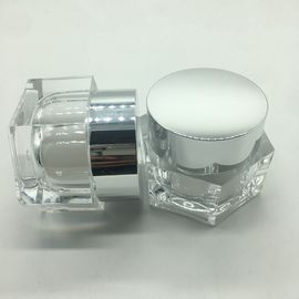 China Frosted 50 Ml Hexagonal Cosmetic Cream Jar For Facial Mask Facial Cream supplier