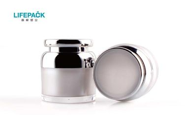China Acrylic Cosmetic Cream Jar / Empty Makeup Containers Silk Printing For Eye Serum supplier