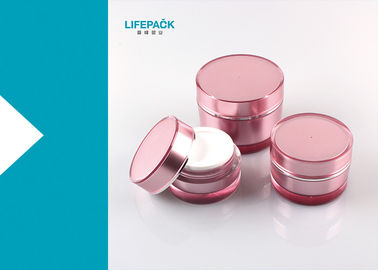 Cylinder Empty Makeup Containers , 20ml Luxury Acrylic Jars For Cosmetics