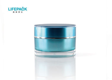 50ml Blue Luxury Cosmetic Jars For Cosmetics,Cylinder Empty Makeup Containers