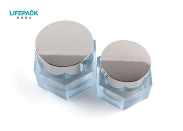 Hexagonal Cosmetic Acrylic Jar Injection For Luxury Cosmetic Packaging