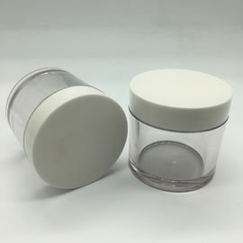 PETG Plastic 100g Round Cosmetic Jar One Layer Personal Care Cream Container