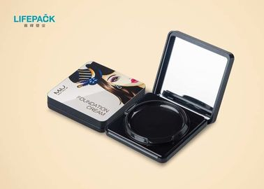 Square Portable Empty Makeup Packaging / Plastic PP Custom Cosmetic Packaging